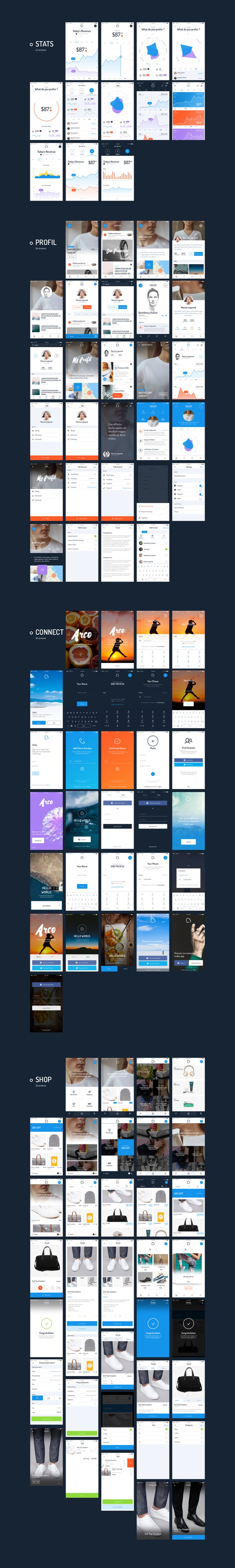 Arco - Mobile UI Kit by MarketMe on @creativemarket