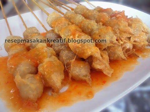 Resep Bakso Cilok Goreng Saus Lemon | Resep Masakan Indonesia (Indonesian Food Recipes)