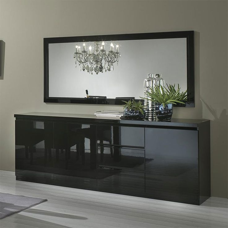 1000 id es propos de buffet noir laqu sur pinterest meuble tv noir rossignol et bahut. Black Bedroom Furniture Sets. Home Design Ideas