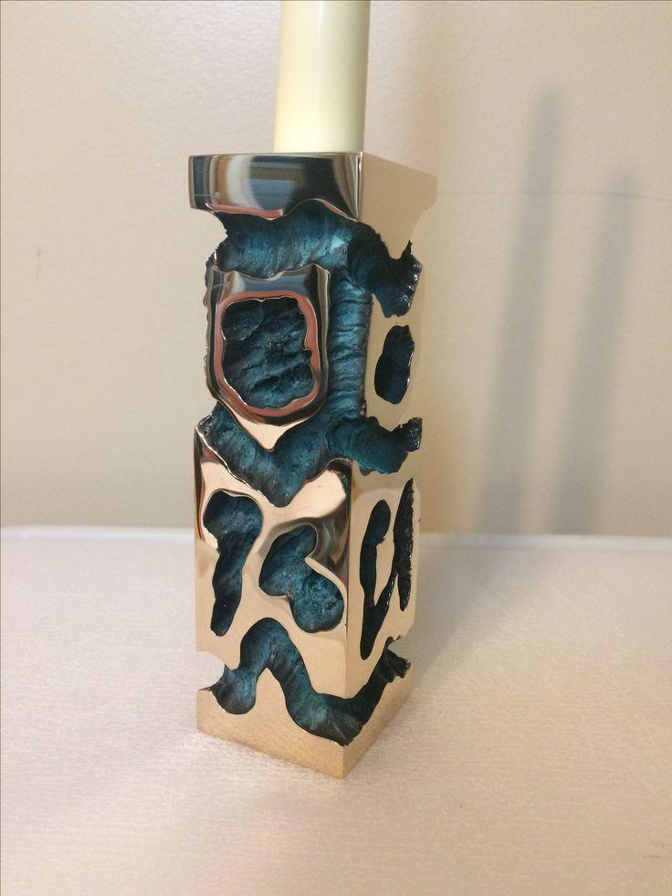 Cast Bronze Candleholder  6 inch