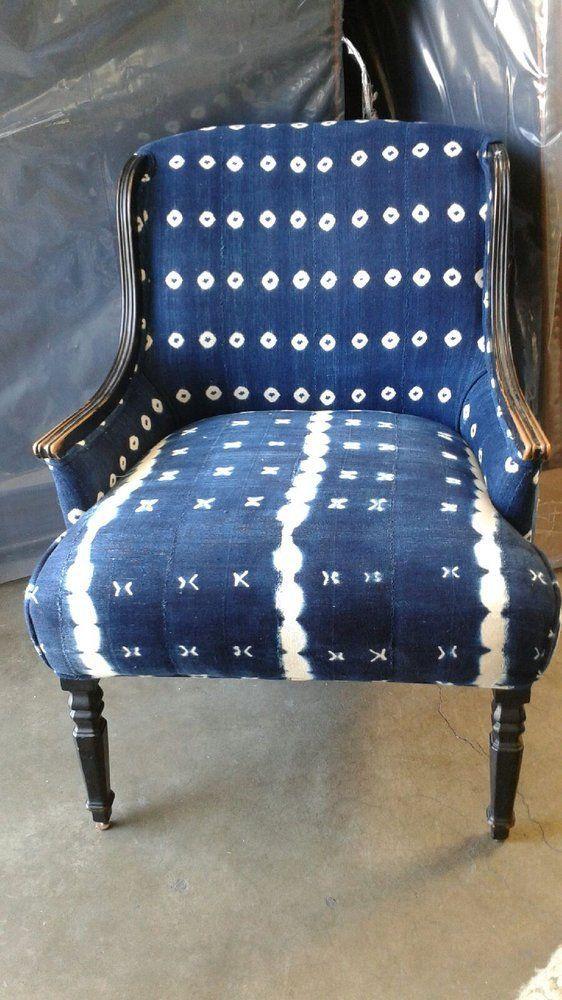 Shibori fabric on vintage chair