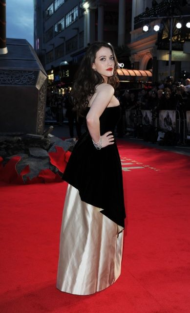 American actress, Kat Dennings during the premiere of Thor: The Dark World...