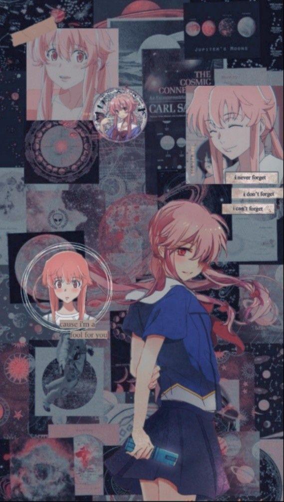 𝐘𝐮𝐧𝐨 𝐆𝐚𝐬𝐚𝐢 Yandere Anime Yuno Gasai Anime Wallpaper Phone
