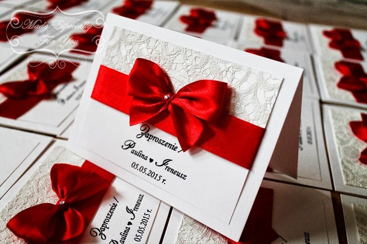 Biała konwalia: Koronkowe zaproszenia