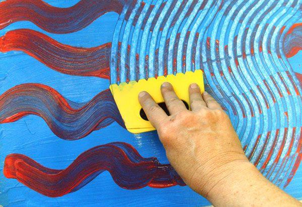 spatule sur peinture