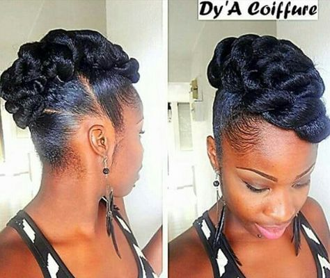 25 trending natural updo hairstyles ideas on pinterest flat side mohawk by dya coiffure urmus Image collections