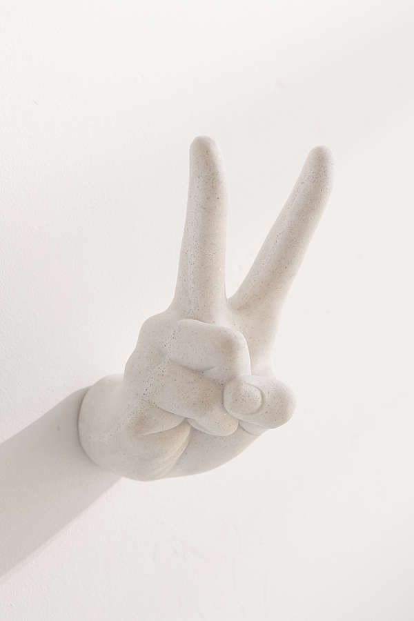 Slide View: 3: Peace Sign Wall Hook