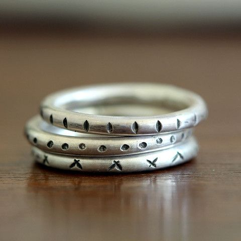 Tribal stacking rings - praxis jewelry