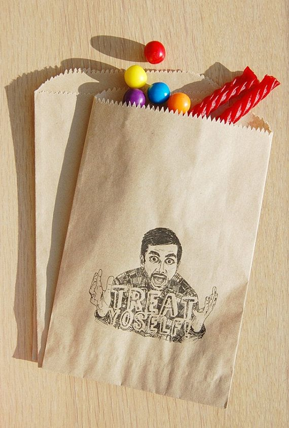 Parks and Recreation Inspired Treat YoSelf Hand Drawn Candy Favor Treat