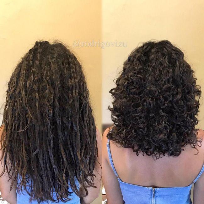 Um ângulo extra para você entender a diferença entre o cabelo liso / natural …