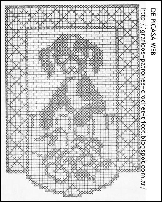 1401 best crochet-filet images on Pinterest | Cortinas crochet ...