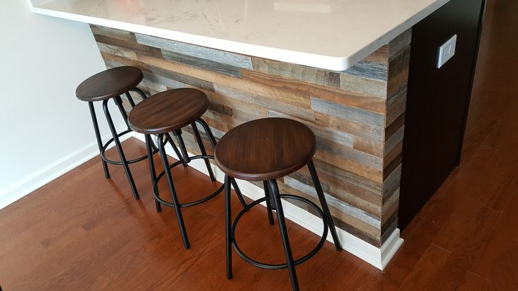 This #reclaimed Wood Kitchen Island Looks GREAT!
