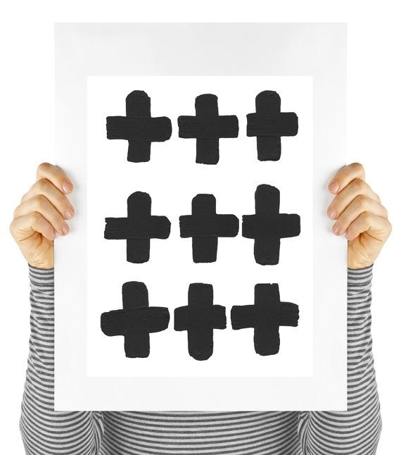 Modern art print swiss cross mod digital by MyDaisyDownloads