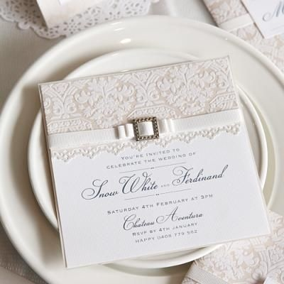 Majestic Pearl Wedding Invitation {Wedding Invitation}