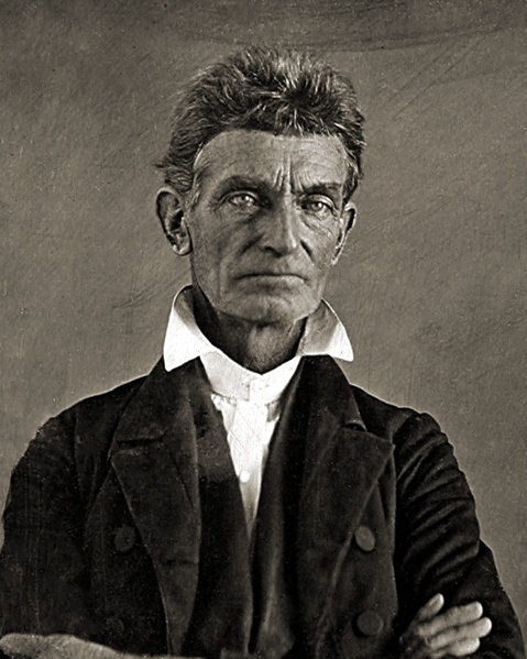"""John Brown was a radical abolitionist to say the least. Nice photograph of him prior to """"his body lying moldering in the grave"""". Brown advocated and practiced armed insurrection as a means to abolish slavery in the United States.  Executed in 1859, but his speeches at the trial captured national attention. Brown has been called """"the most controversial of all 19th-century Americans"""" and """"America's first domestic terrorist."""""""