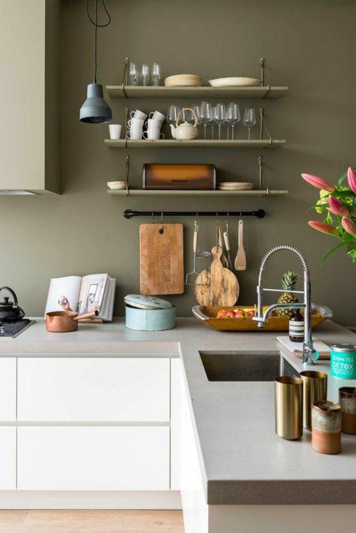 1001 Idees Pour Decider Quelle Couleur Pour Les Murs D Une Cuisine Adopter Les Interieurs En Vogue Couleur Murs Cuisine Interieur De Cuisine Decoration Murale Cuisine