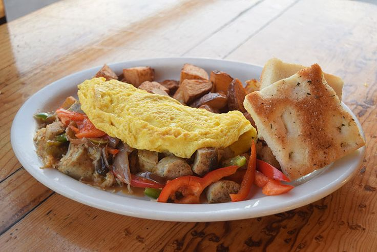 Chicken Sausage Omelet, Fig Tree Cafe.