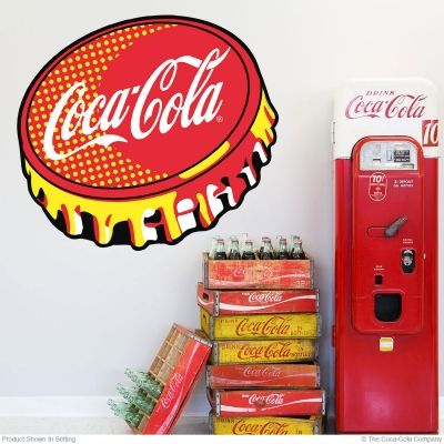 Coca-Cola Red Bottle Cap Pop Art Wall Decal in 2019 | Coca
