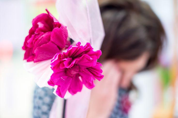 mallow flowers, diy