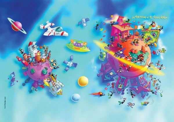 """Puzzle """"Pianeta"""". #formiche #puzzle #pianeta #space #fantasy"""