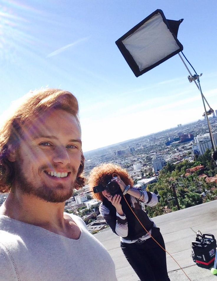Great shoot with @EmmyMagazine today! Thanks guys! (Be sure to catch the issue!) Twitter from Sam Heughan 1/14/15