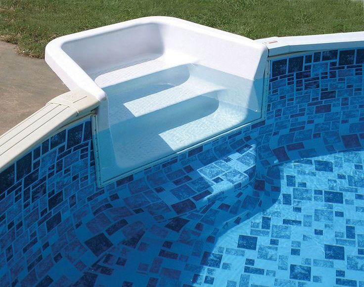 simple above ground pool steps for decks