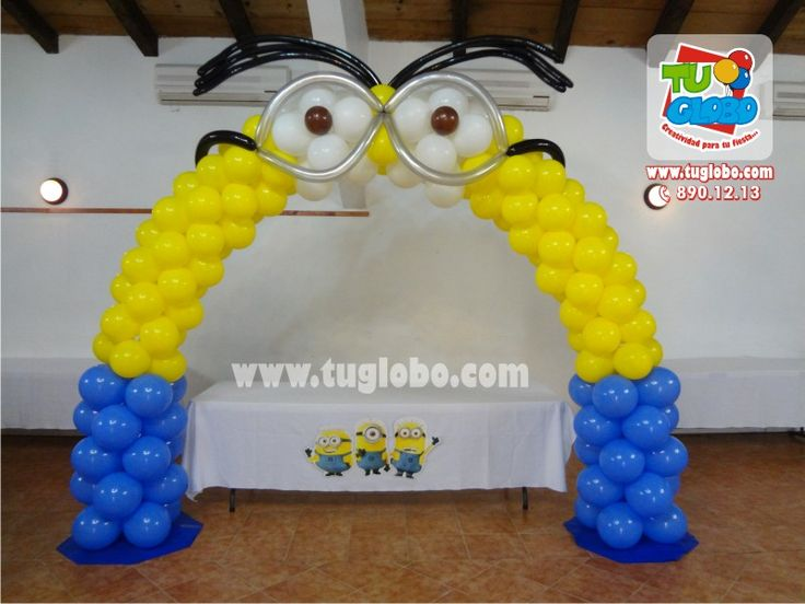 Arco de globos Minions  globos  Pinterest  Minions, Arches and