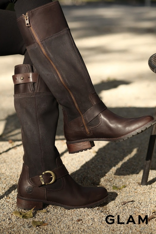 A classic look with a modern twist – Timberland Bethel Buckle Tall Zip Boot (Photo credit: Ken Pao; @theglamnetwork)