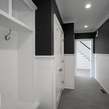 Black and White Mudrooms