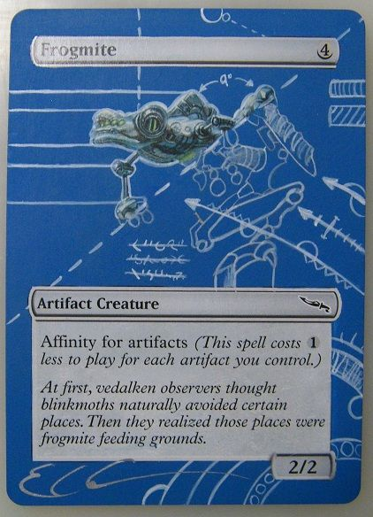 Altered MTG card art of Frogmite by ClaarBar on deviantART…