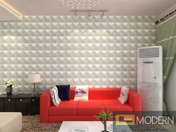 Wall paneling that works outside. $89.99 for 32 sq ft. Shade - Exterior and Interior PVC Glue on Wall 3d Surface Panel. 12 panels 32.29 sf