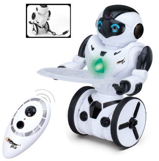 Top Race® ferngesteuerter Roboter, intelligenter balancierender Roboter, 5 Bedienungsstufen, tanzen, boxen, fahren, laden, Geste. 2.4 Ghz Transmitter