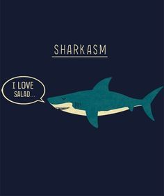 """Sharkasm"" is today's great tee on Qwertee : Limited Edition Cheap Daily T Shirts 