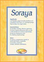 Soraya (significado)