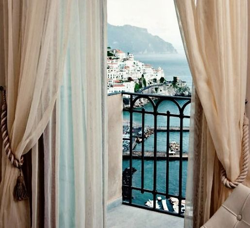 This looks EXACTLY like our room and view when we stayed on the Amalfi Coast!