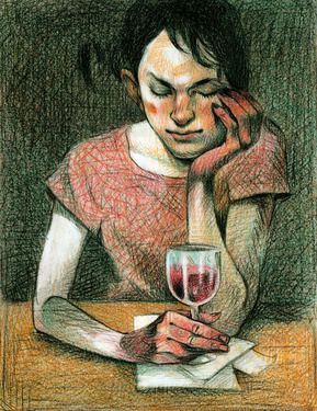 The wine. Federico Milano. Prints from $40