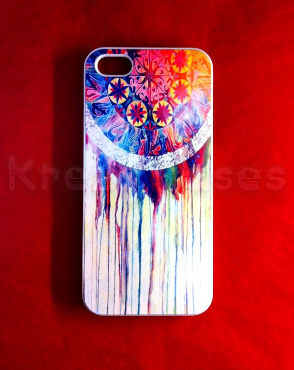 New iphone 5 case iphone 5 cover iphone 5 cases - Colorful Dreamcatcher  designer iPhone 5 Case For your iphone 5. $14.95, via Etsy.