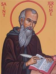 """St. Jerome, monk and doctor of the church, was probably best know for his translation of the Bible into Latin.  In defense of relics, St. Jerome wrote: """"We do not worship, we do not adore, for fear that we should bow down to the creature rather than to the Creator, but we venerate the relics of the martyrs in order the better to adore Him whose martyrs they are.""""  He is the patron saint of librarians.  His feast day is September 30th."""