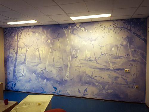 Forrest+:+Muurschildering+voor+Verzorgingshuis+de+Diem.+In+Diemen+Amsterdam. Gemaakt+voor+de+ontspanningsruimte. Meer+werk+op+www.verfdokter.com+|+verfdokter