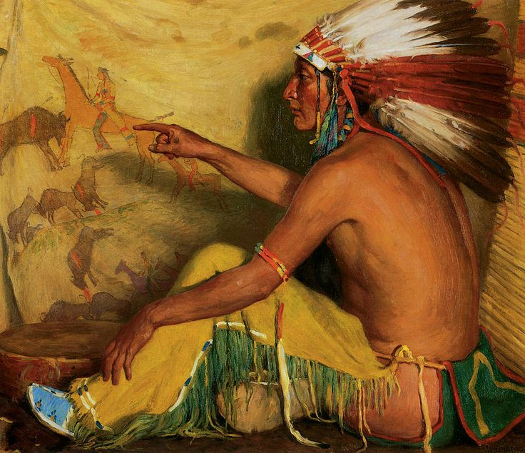 Pointing With Pride To His Record Painting  - Pointing With Pride To His Record Fine Art Print