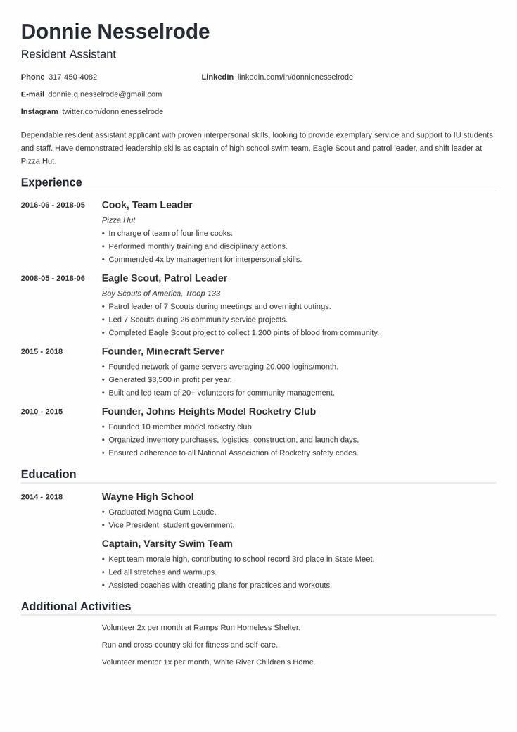 Simple Resume Templates To Make Your Cv Professional All Of These Visual Cv Templates Come With A M En 2020