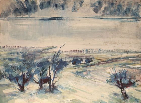 Székács Zoltán, id.: Téli Balaton - Pintér Aukciósház