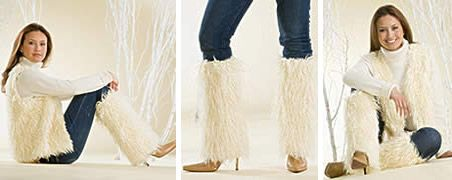 Faux Fur Boot Covers.But why only wear them with boots?? They look fun all by themselves!
