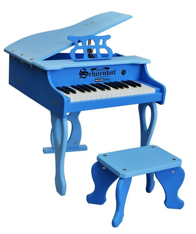 30-Key Two-Tone Blue Digital Baby Grand Piano
