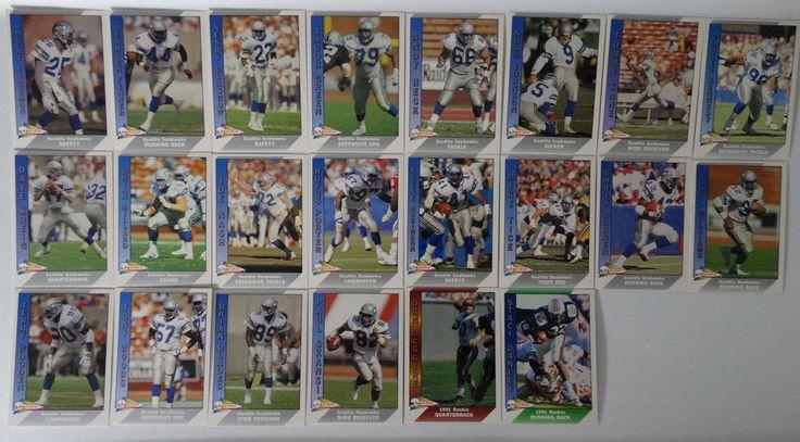 1991 Pacific Seattle Seahawks Team Set of 22 Football Cards #SeattleSeahawks