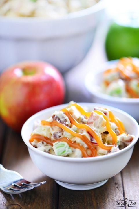 Caramel Apple Pretzel Salad Recipe   thegunnysack.com