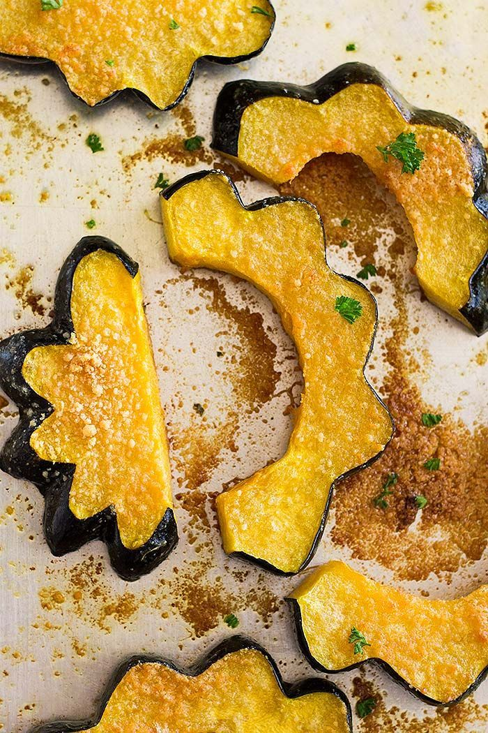 This Parmesan Roasted Acorn Squash Even Uses The Seeds It S
