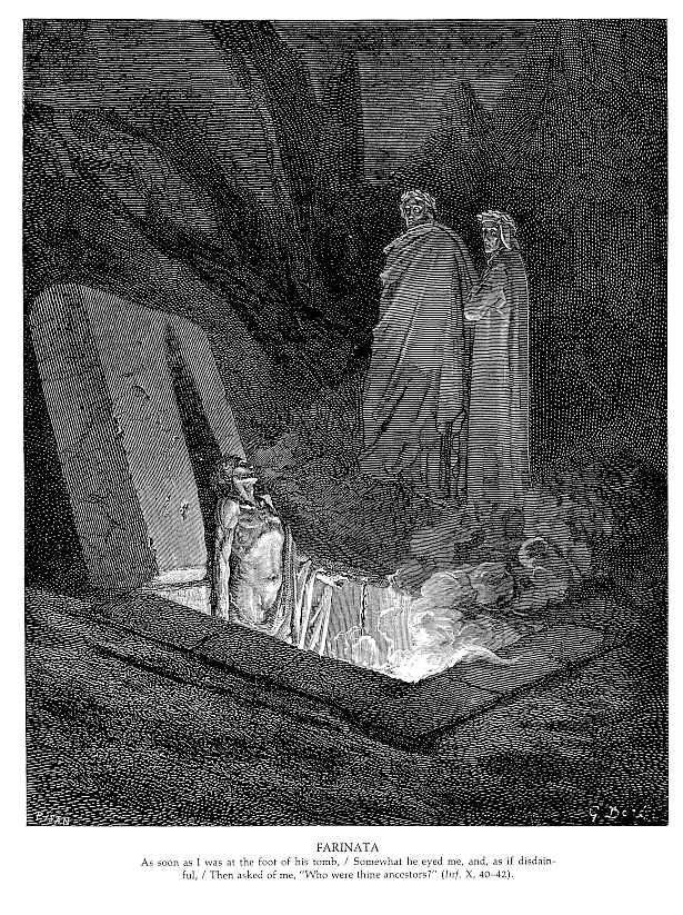 Gustave Dore, Farinata,Image via www.wikiart.org