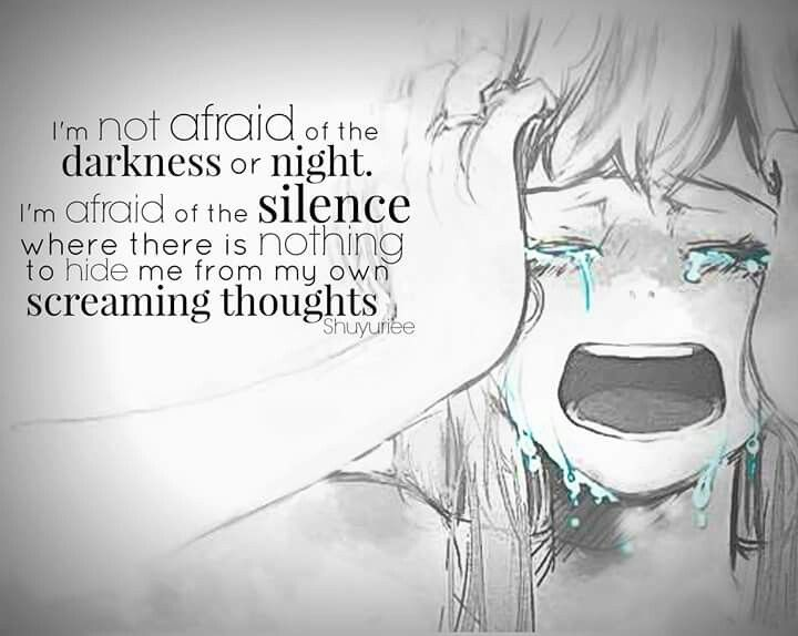 That's why I play music loud all the time so I don't go crazy when I'm sad and feeling down