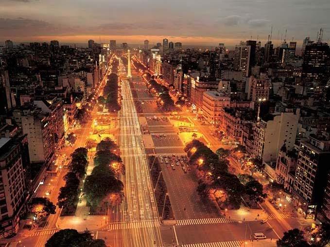 Avenida 9 de Julio, Buenos Aires, Argentina.  Photo: Faena Hotel+Universe. Luxury Amazon & South American Wildlife Tours.